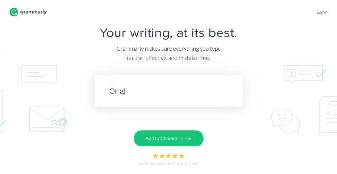 What Grammarly's Website looked like in 2017