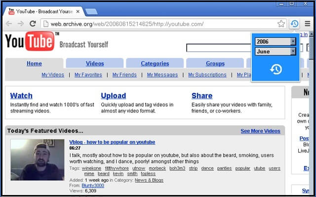 What YouTube Looked Like in 2006