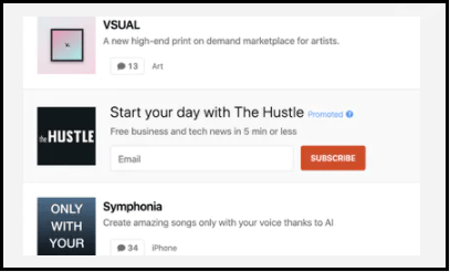 Product Hunt Email Lead Generation Ads