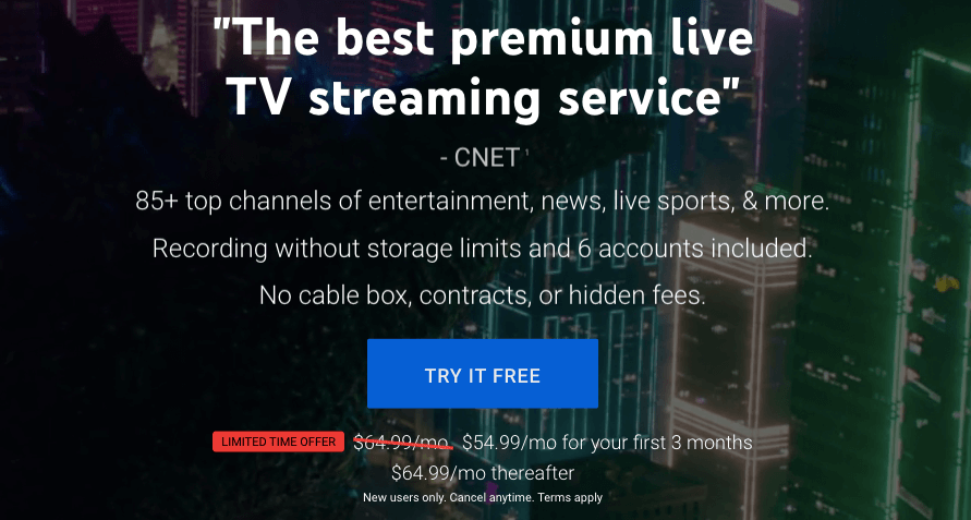 YouTube TV Features & Pricing