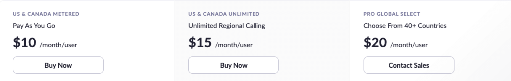 Zoom Phone Pricing Plans: US & Canada Metered, US & Canada Unlimited, Pro Global Select